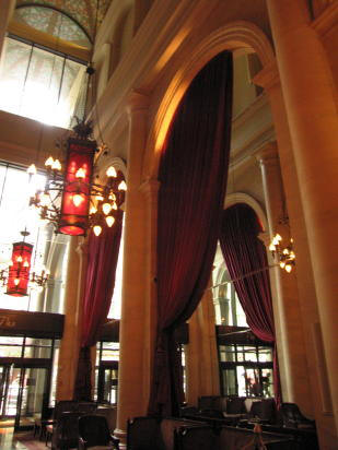 Arched Lobby Drapery