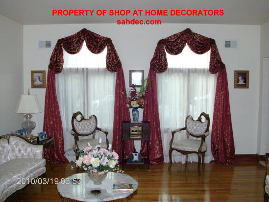 Arched Swags and Arched Curtains