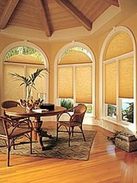 Arched Cellular Honeycomb Shades