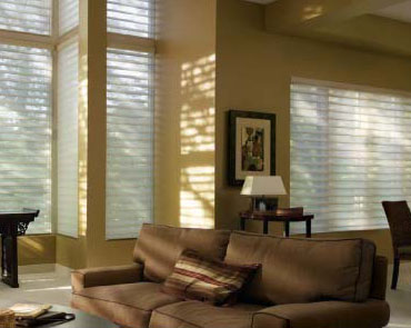 Silhouette window shadings, skyline gliding window panels, solera soft shades, pirouette window shadings, vignette traversed with vertiglide shades