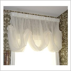 Semi Sheer Polyester Balloon Shade Features Beautifully Todayu0027s Curtain  Sunshine Semi Sheer Reverse Embroidery Panel. $24 Casa.com.